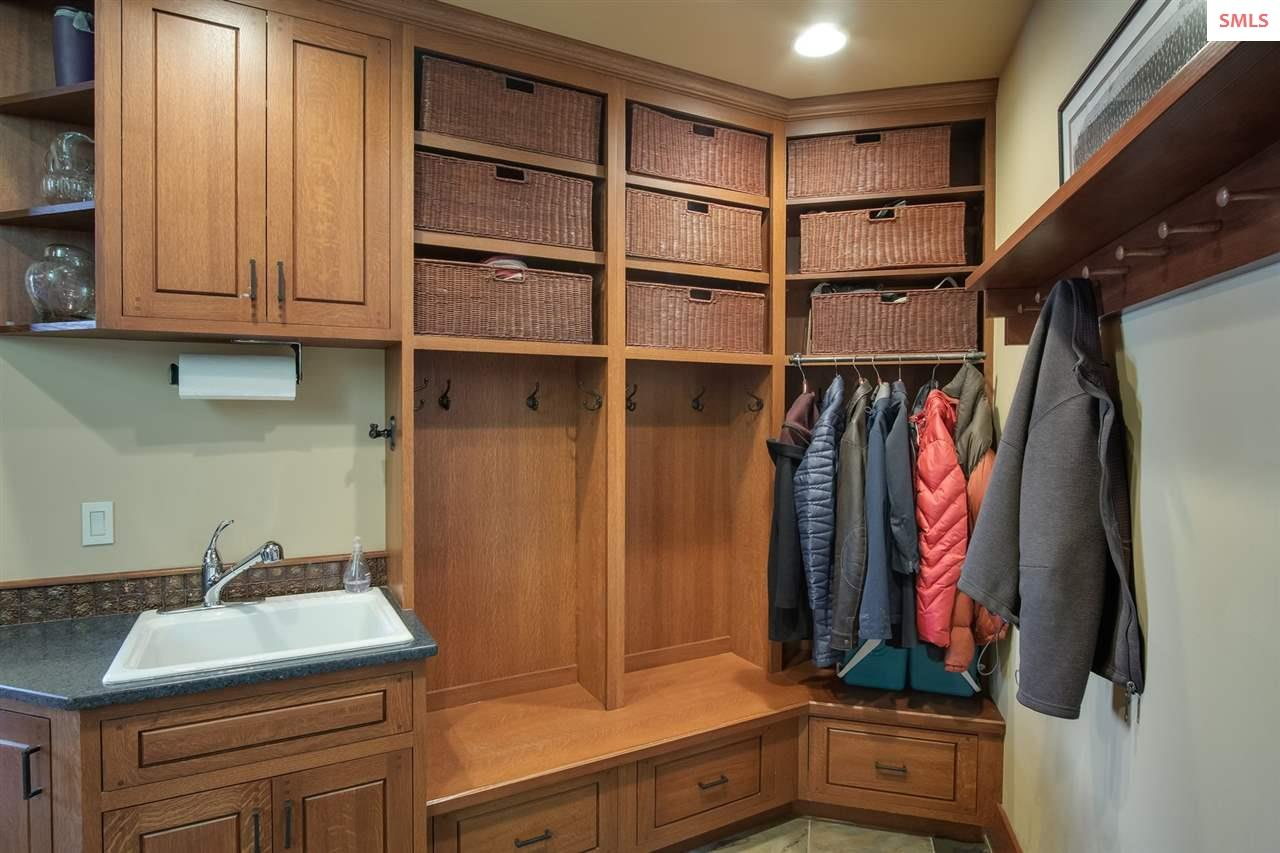 Beautiful mud room keeps all mess corralled & out