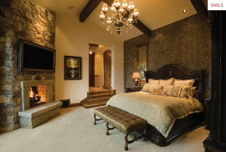 Stunning master suite with private spiral staircas