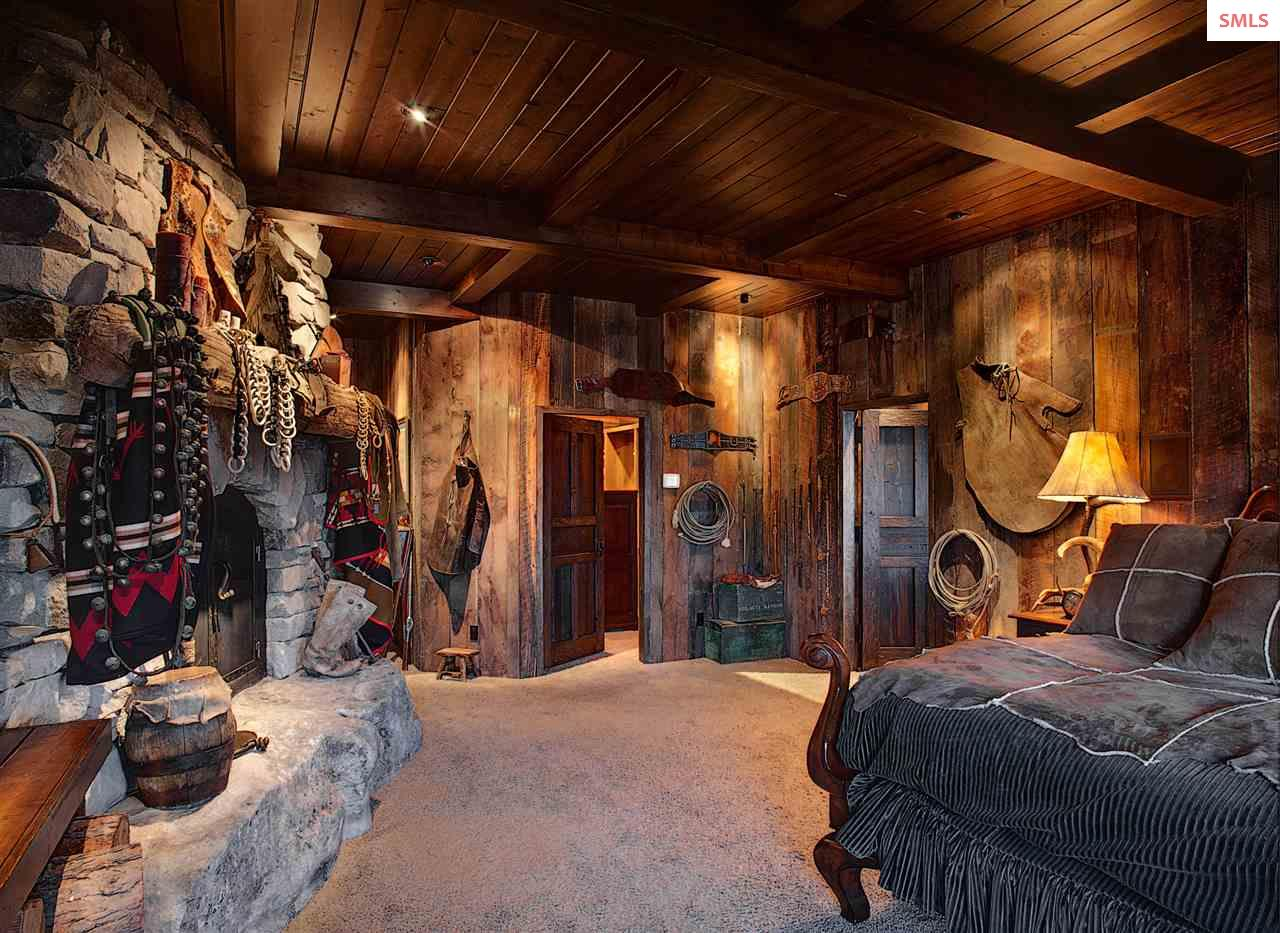 A relaxing retreat with hand laid stone fireplace,