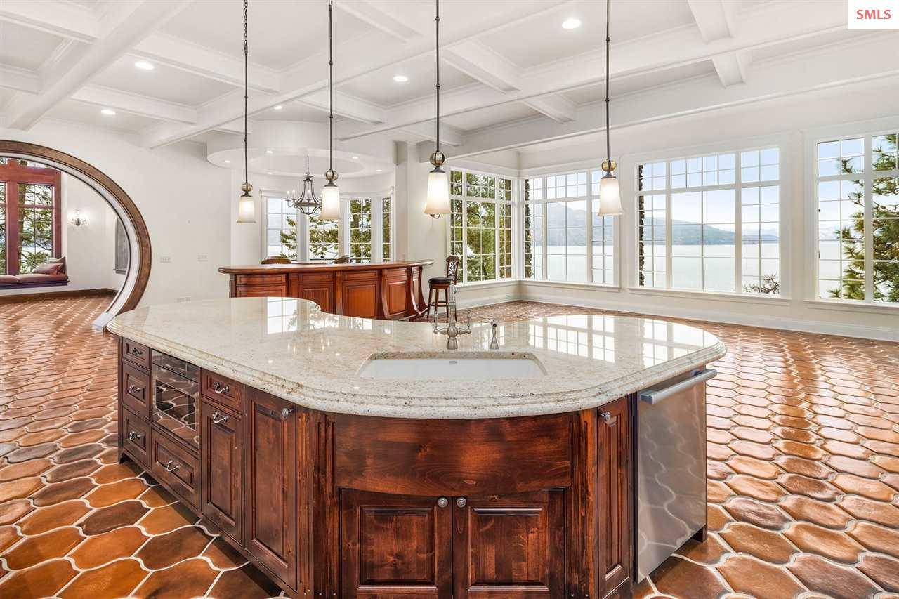 With Marble Counters, Coffered Ceiling, Custom Cab