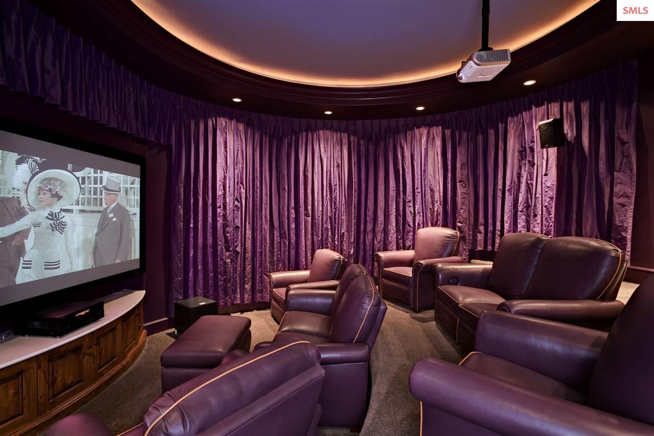 Relax and enjoy movie night in luxury. Curtains ar