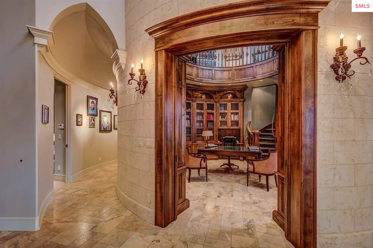 Private hallway provides passage to private guest