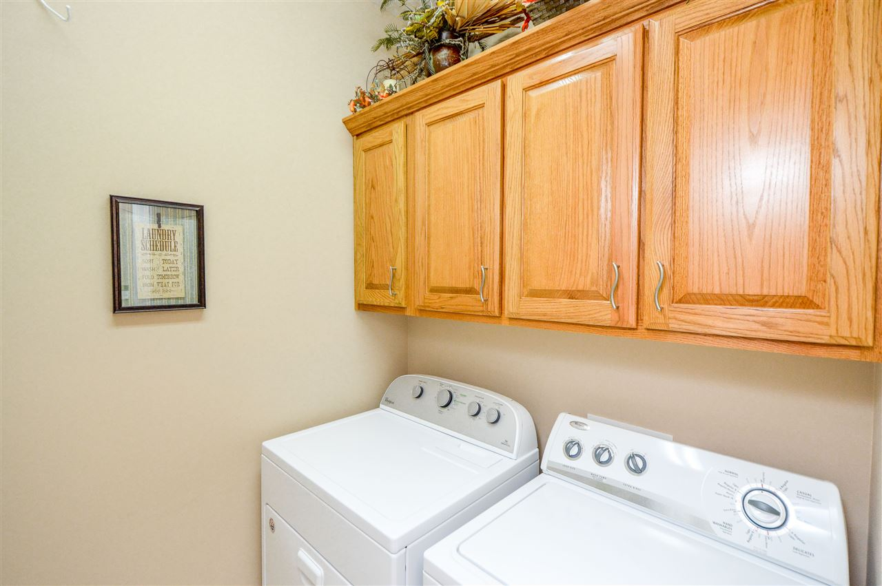 Washer and Dryer stays with house, cabinets for ex