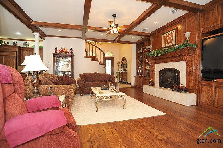 Great room has a fireplace which is a LP furnance.