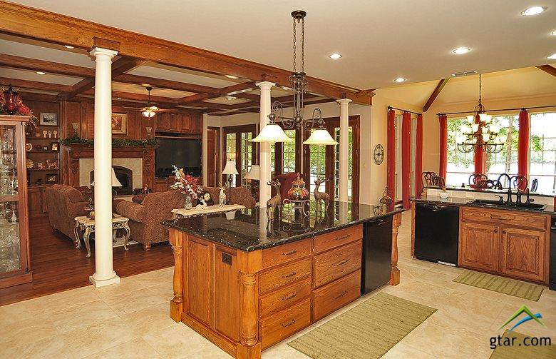 Enjoy lake views while cooking and entertaining