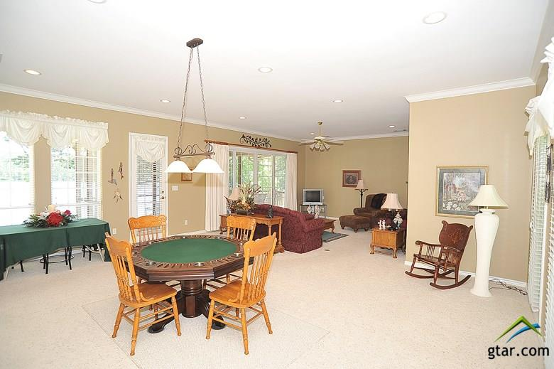 This living area is large enough for a pool table.