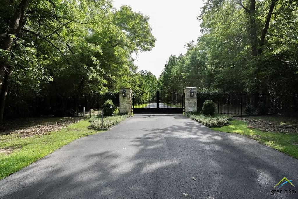 TREE-LINED DRIVEWAY TO PROPERTY,  WROUGHT IRON & S
