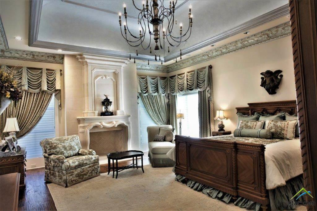 LARGE MASTER SUITE W/FLOOR-TO-CEILING CAST STONE F