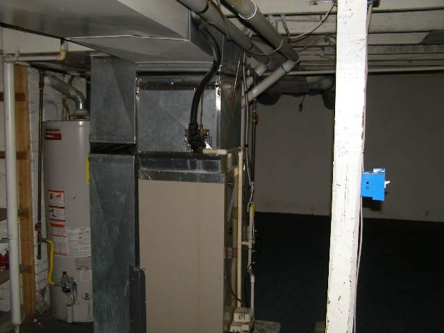 basement heating and hot water