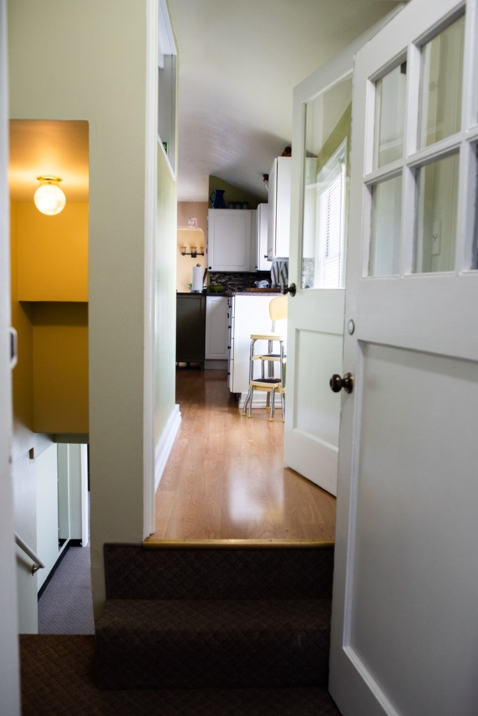 Stairs to Mudroom & Basement