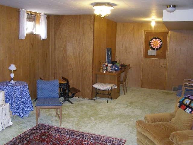 Back basement family room area