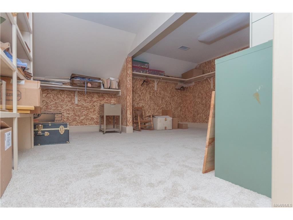 Cedar storage closet.