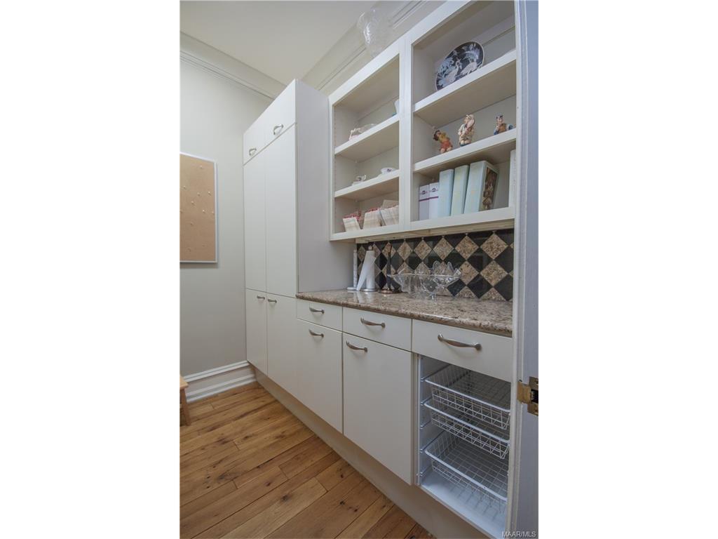 Half the kitchen pantry.