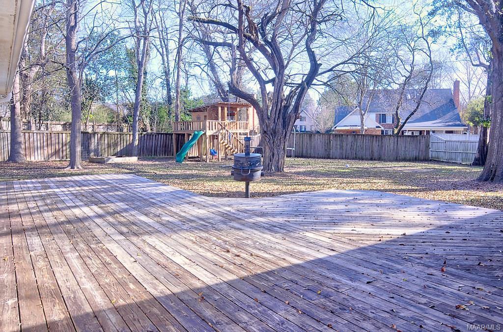 Backyard is large and amazing!