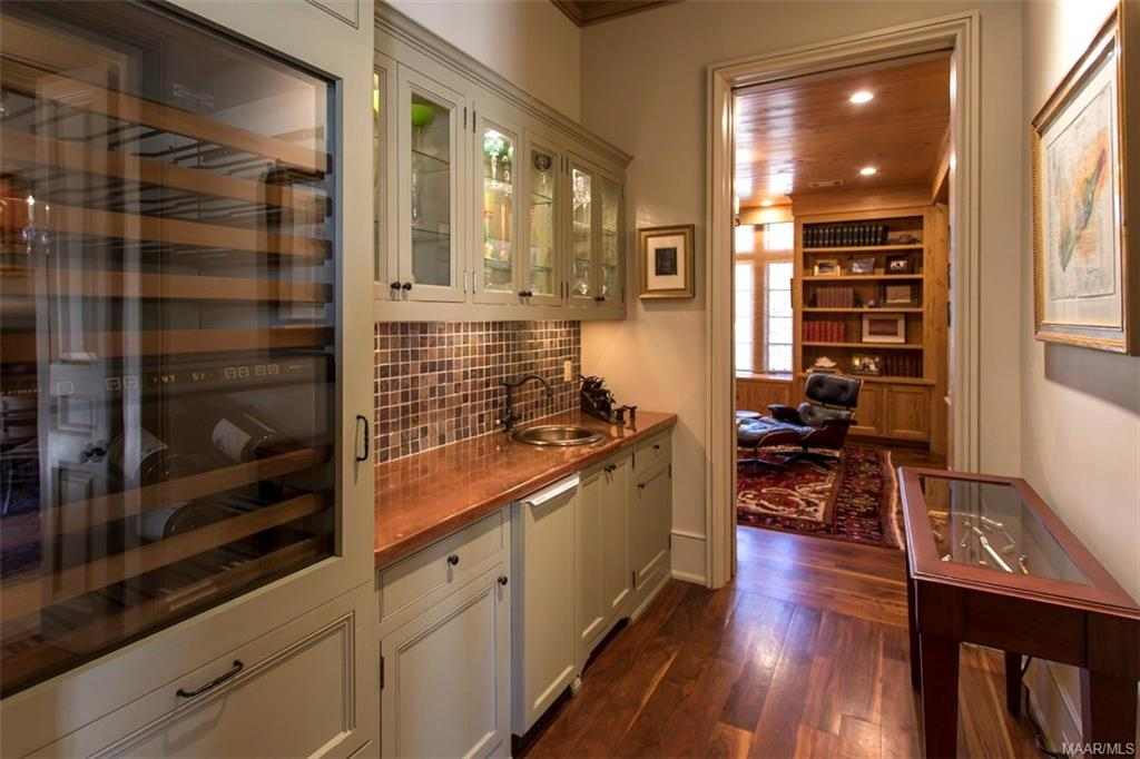 Wet Bar with Copper Countertop, Ice Maker and Sub