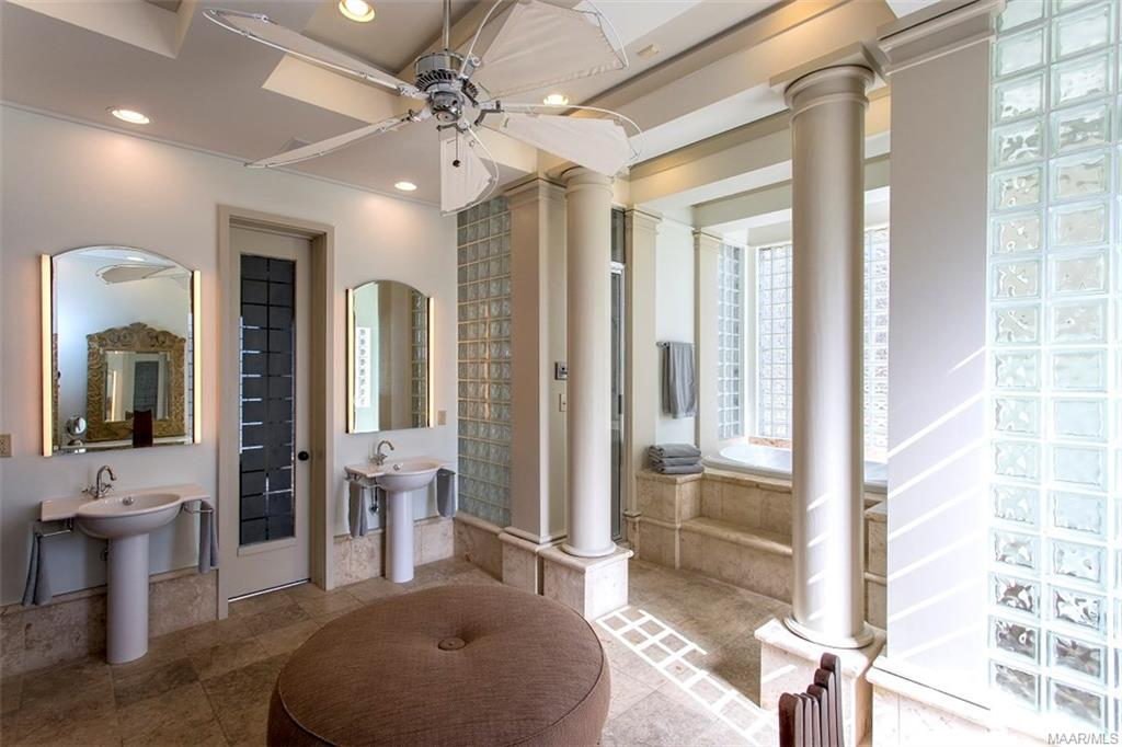 Master Bath features 2 Pedestal Sinks