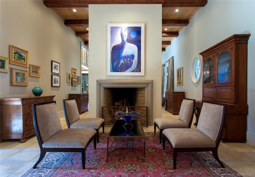 Formal Living Room features one of three Rumford F