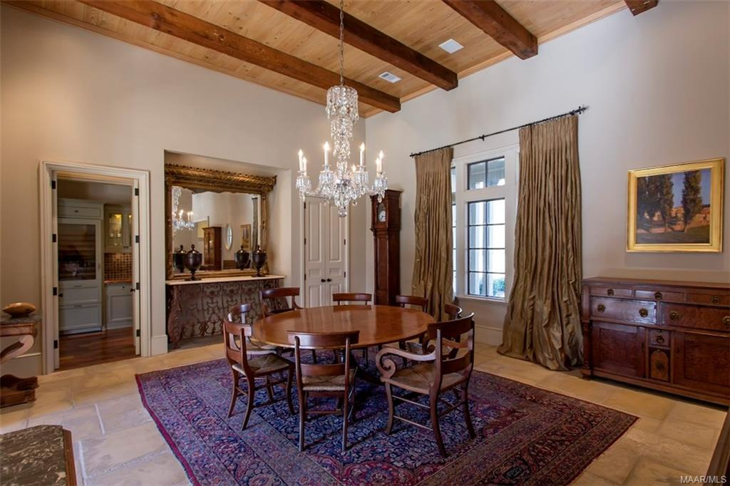 Dining Room and Living Room have Cypress Ceilings