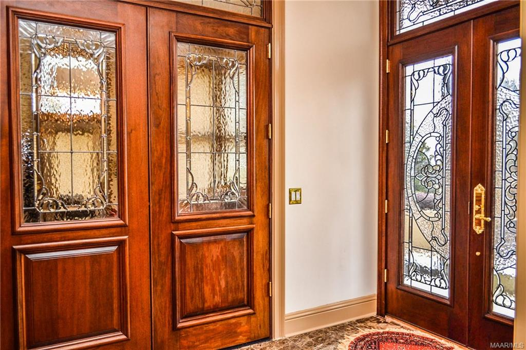 Double doors create privacy in the living room and