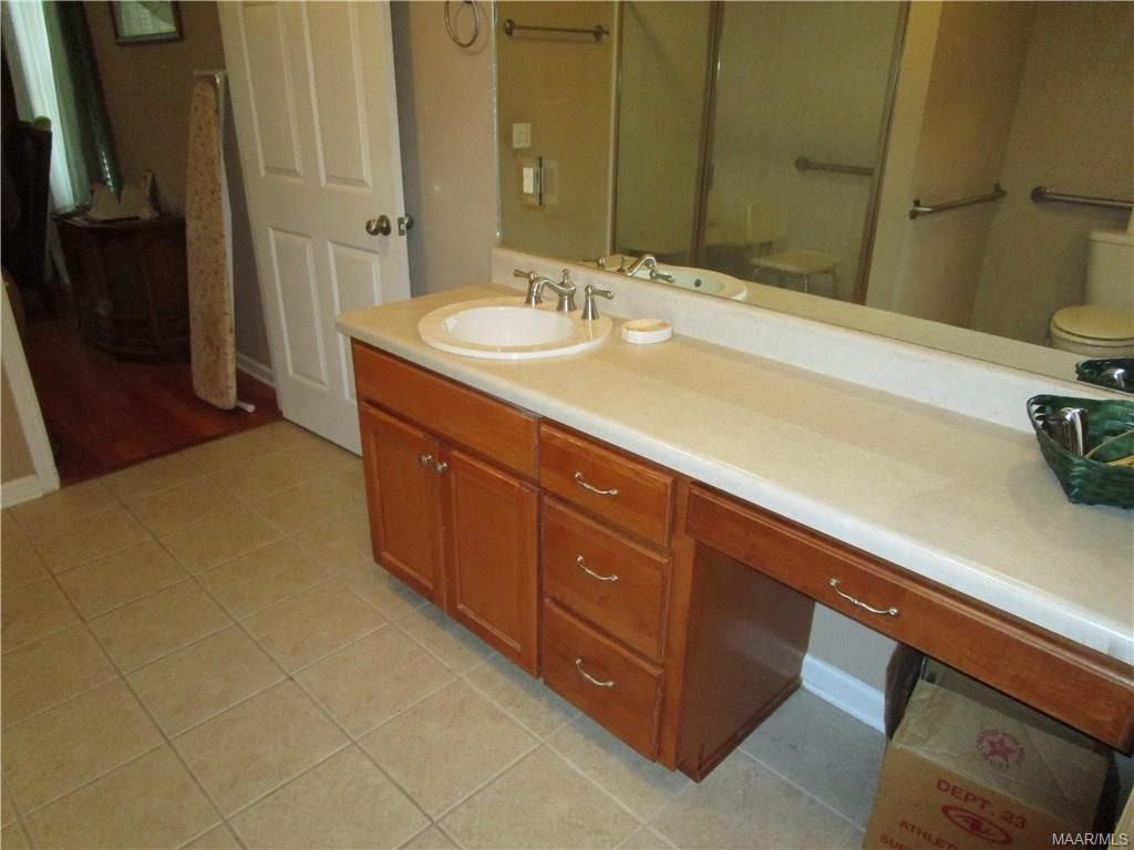 Vanity in master bath