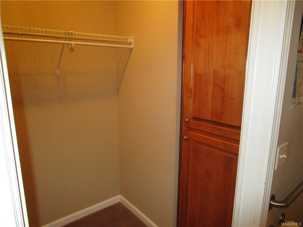 Built-in cabinet in master bath closet