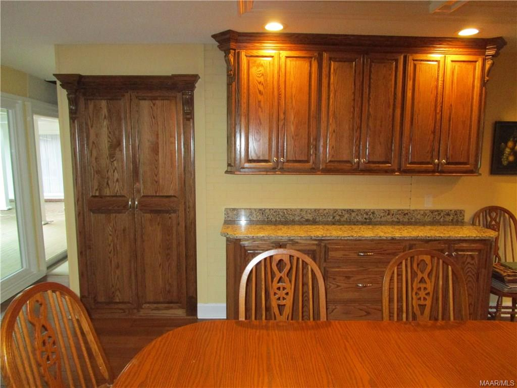 More storage and countertop space in kitchen