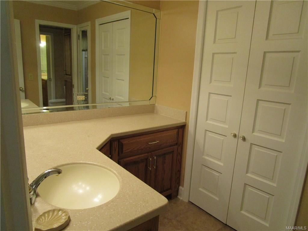 Second vanity area in updated bath