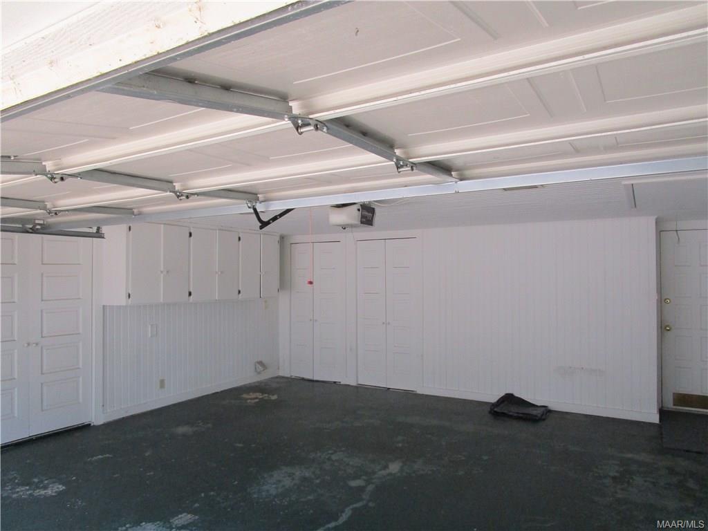 Lots of storage in attached garage
