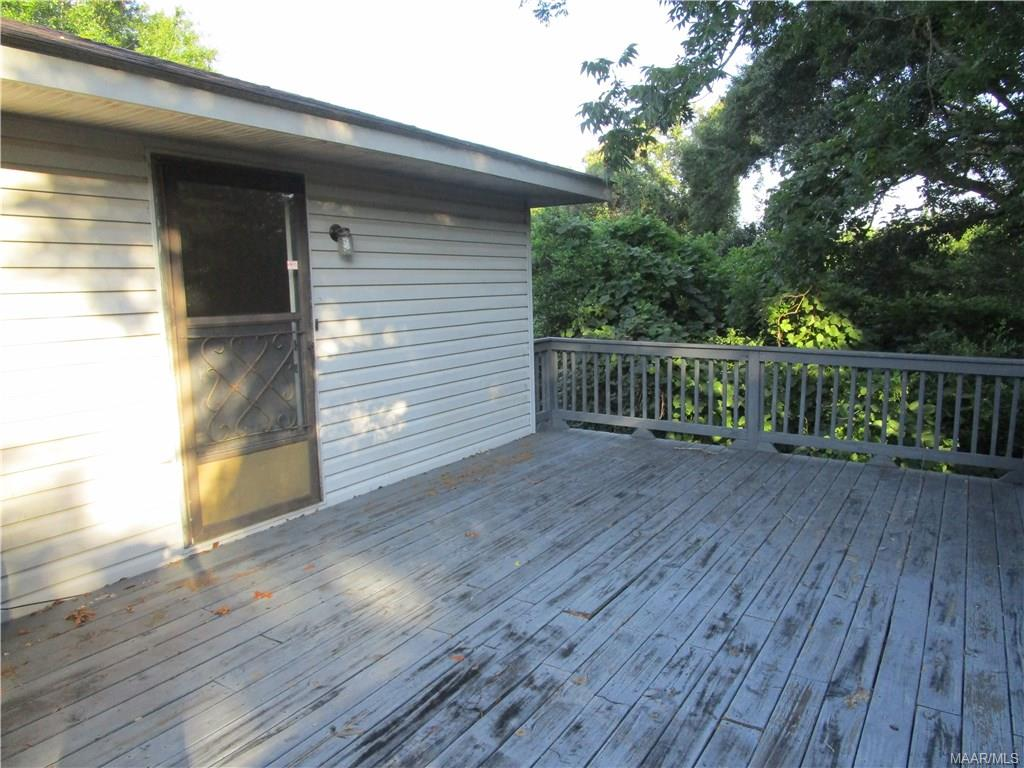 Deck off upstairs unit