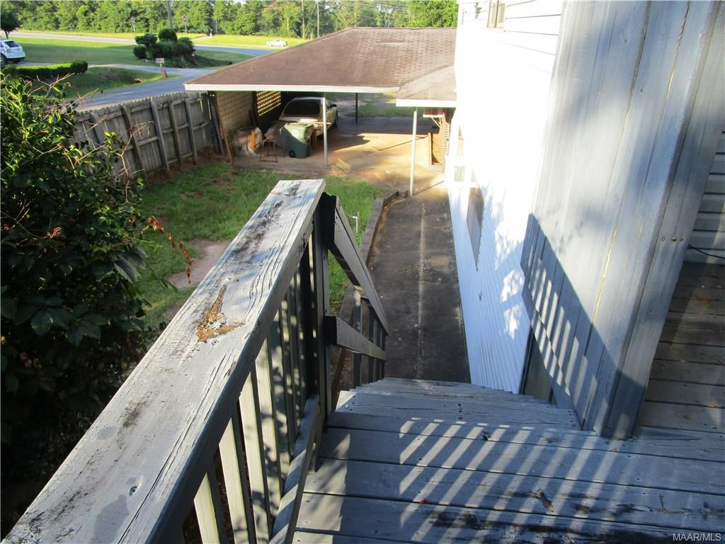Staircase from upstairs deck