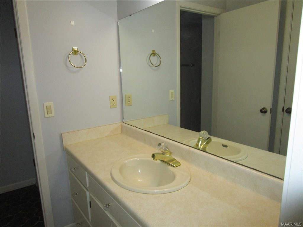 Bathroom in downstairs unit