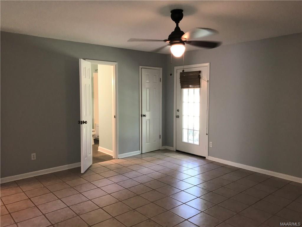 Master Bedroom has door to back yard