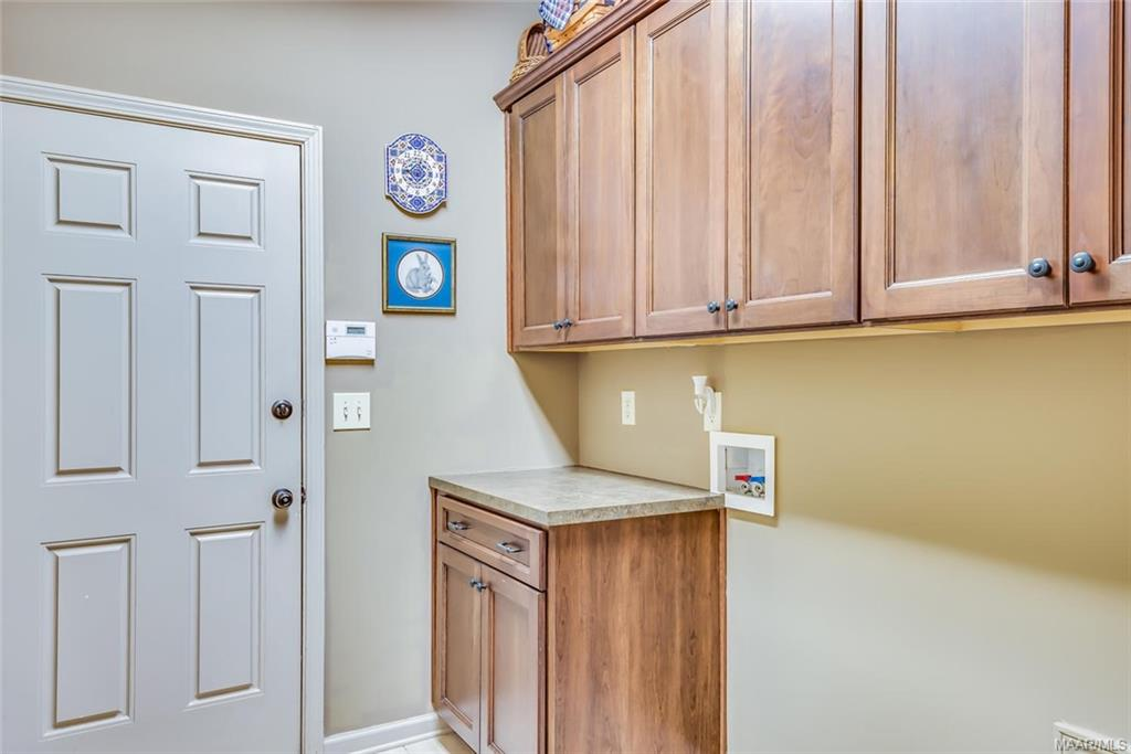 Laundry with cabinets!