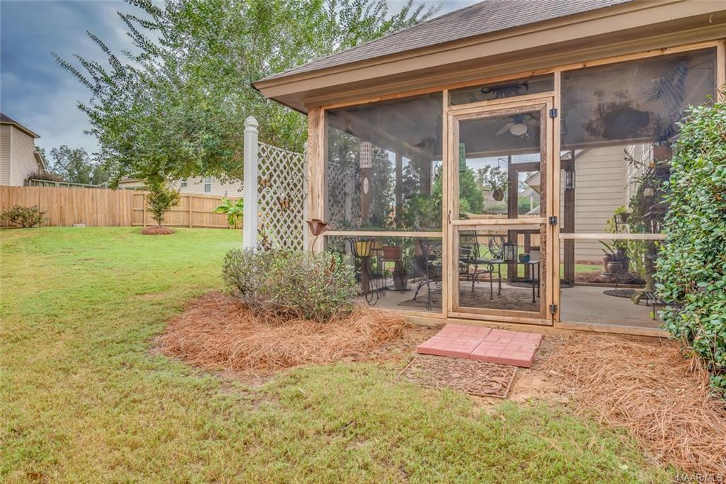 Two doors from screened porch, one on each side! P