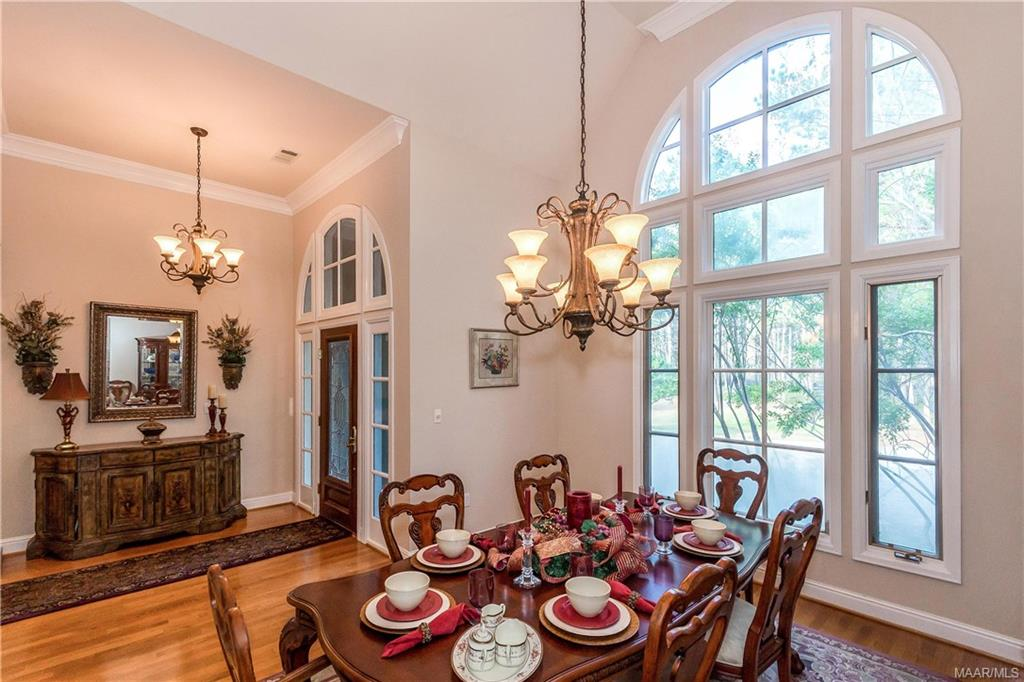 Formal dining with large window allowing beautiful