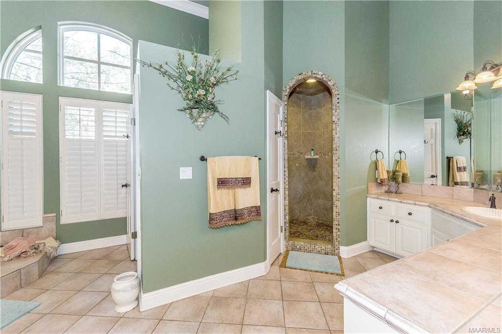 Large and luxurious master bath with separate show