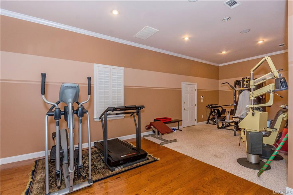 Gym/exercise room.