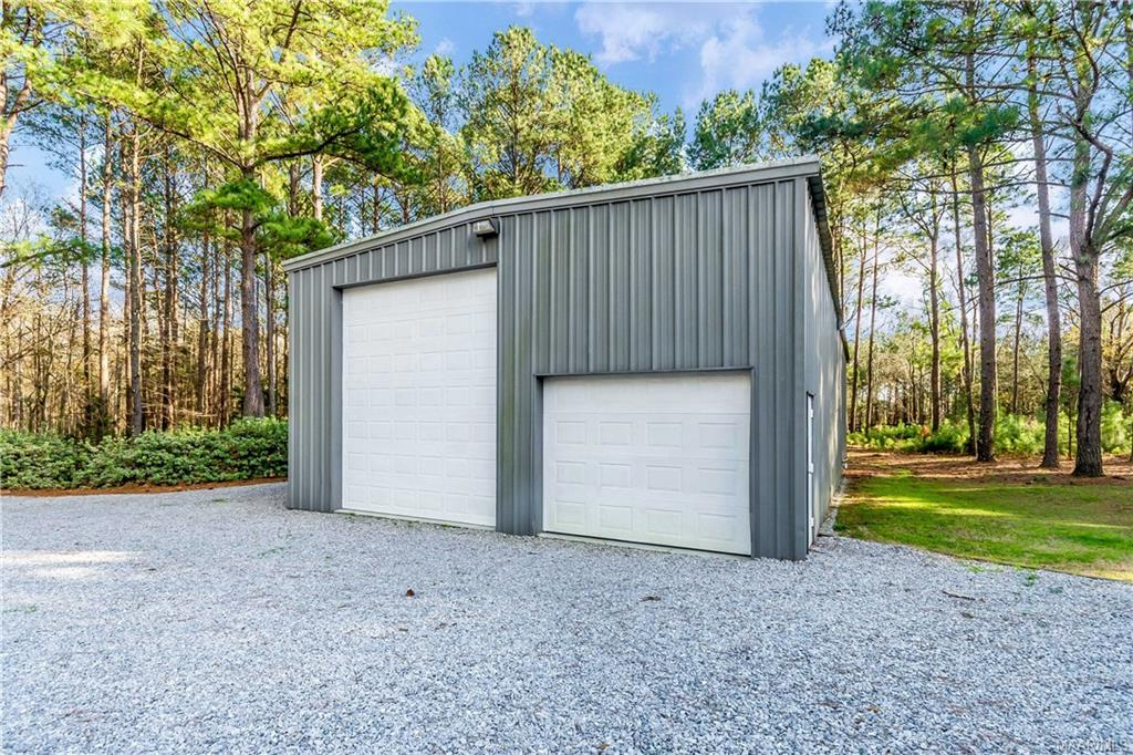 Outside storage and recreational vehicle storage.