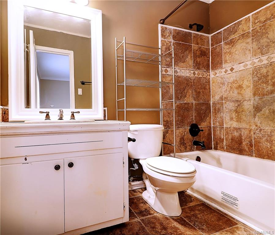 Private, updated bath off bedroom 2