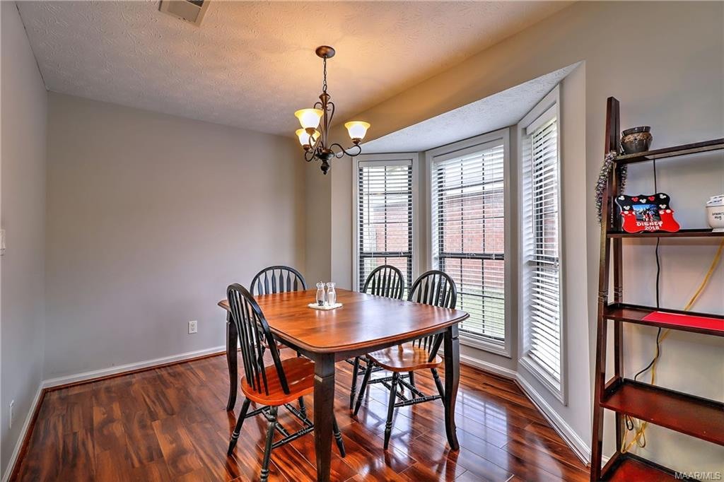 Dining area with big bay window!