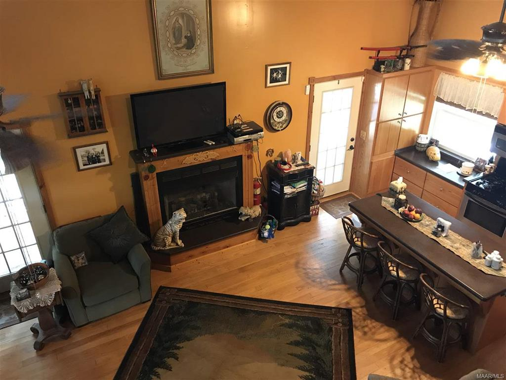 View of Main Cabin Den from Loft