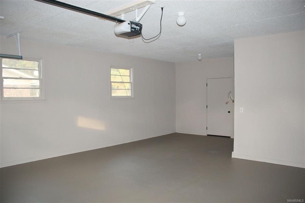 Garage with Storage Area