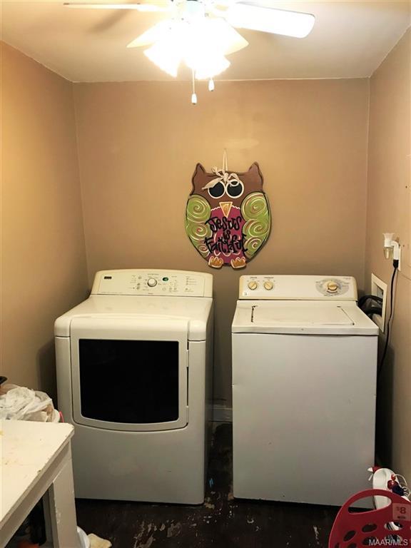 Laundry room off master bedroom