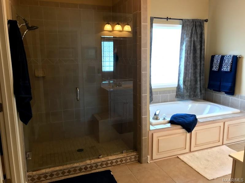 Walk-in shower and jacuzzi