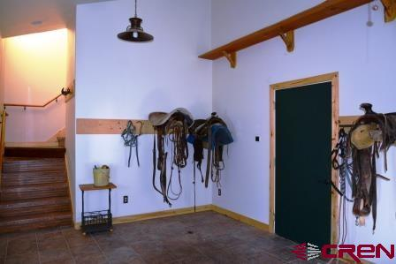 A spacious finished area for all of your tack.
