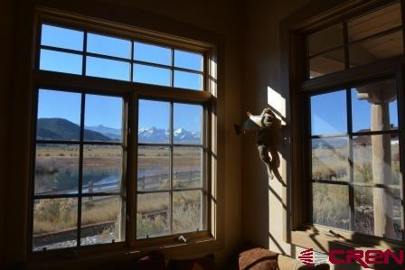 Mountain views from every room of the well appoint