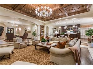 Family room commodious for large gatherings while