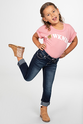 Toddler Girl WannaBettaFit Cuffed Denim Skinny Jean