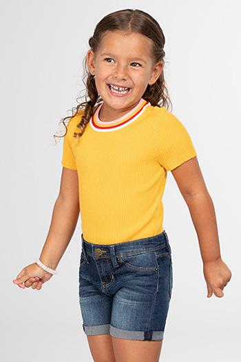 Toddler Girl Denim Rolled Cuff Shorts