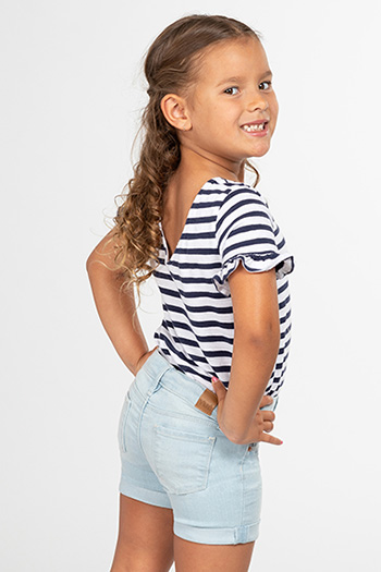 Toddler Girl Rolled Cuff Denim Shorts